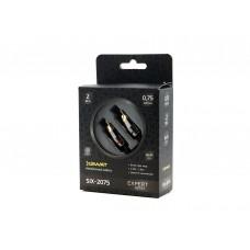 Межблочный кабель  2RCA – 2RCA SWAT SIX-2075 (0.75м)