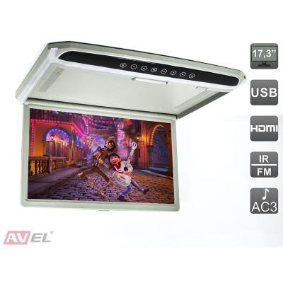"""Потолочный монитор 17,3"""" со встроенным Full HD медиаплеером AVS1707MPP"""