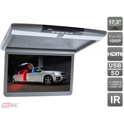 """Потолочный монитор 17,3"""" со встроенным Full HD медиаплеером AVS1717MPP"""