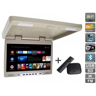 Потолочный монитор на Android AVS2020MPP + Xiaomi Mi Box + AV120520DC