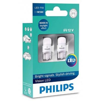 Светодиодные габариты W5W Philips Vision LED T10 6000K